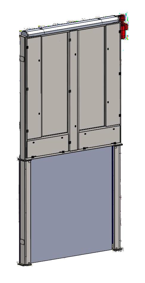 Bezpečnostní dveře s pevným horizontálně vysuvným křídlem
