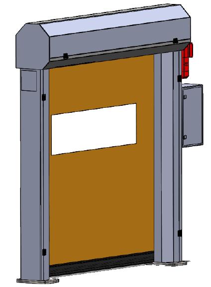 Rolovací dveře s textilním křídlem