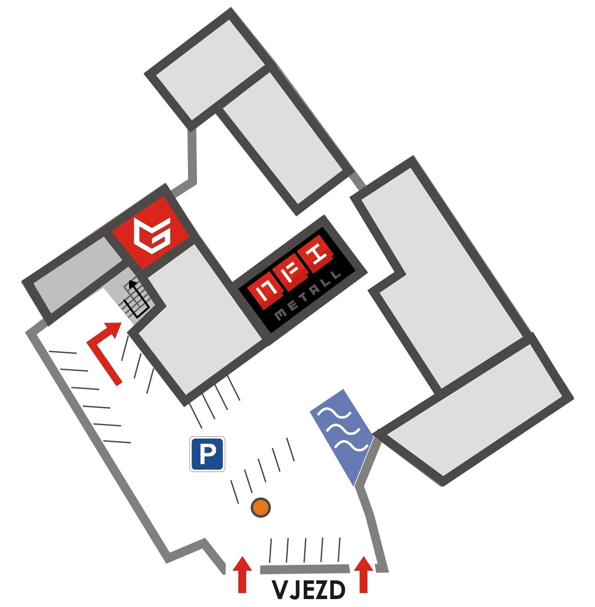 Orientační mapa areálu, pro zvětšení klikněte